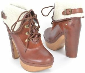 Brand Chaussures Size10 Platform T 41 Lucky Compensées Ankle Boots Tanner HT5q5Adpx
