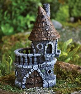 fiddlehead fairy castle miniature fairy garden cottages by rh ebay co uk Outdoor Fairy Garden Ideas Enchanted Fairy Cottages