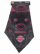Genuine Harley Davidson® Women's Pink Skull Wings Bandana BA71569
