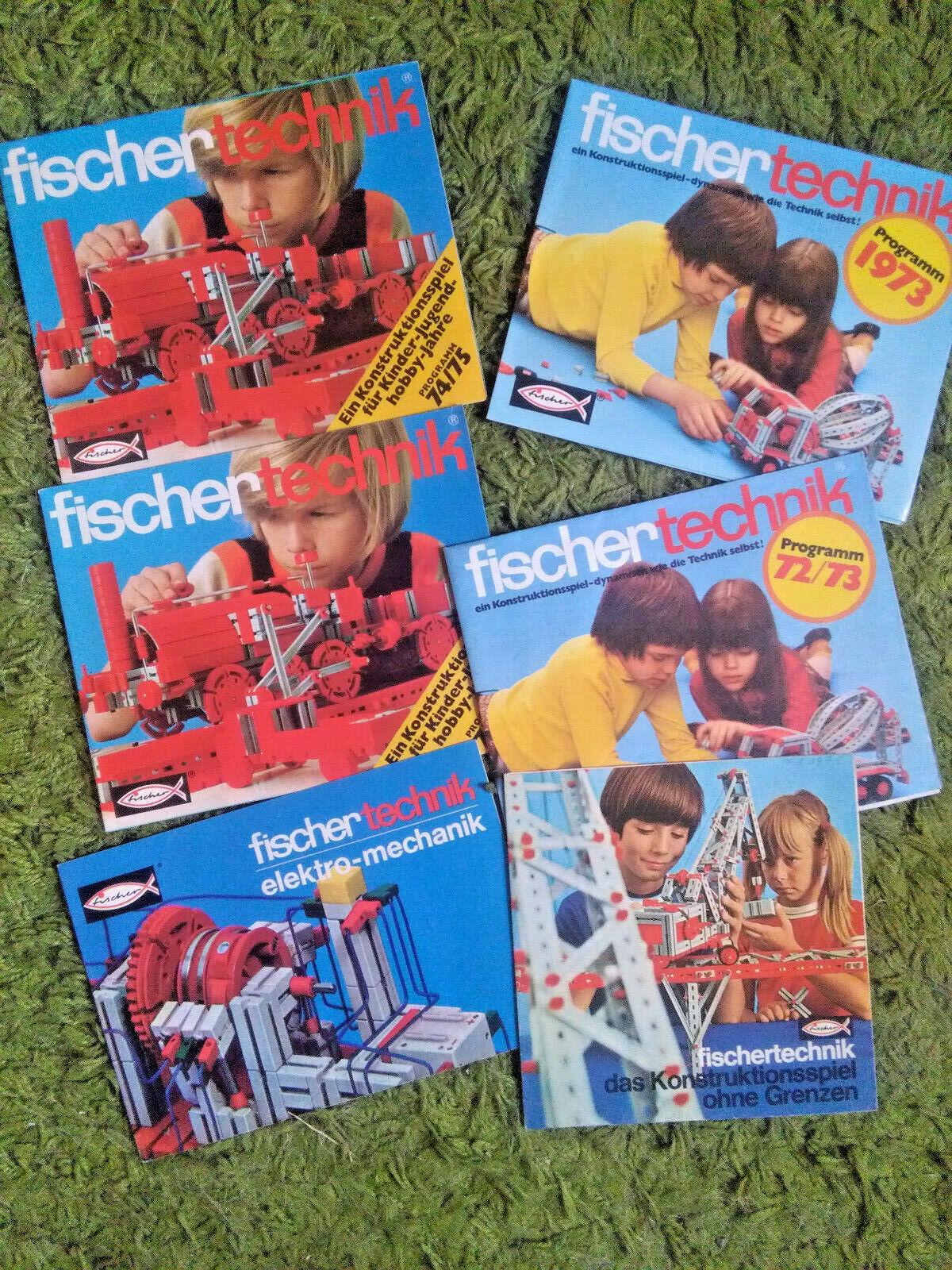 tiendas minoristas Modelismo  Fischertechnik, Fischertechnik, Fischertechnik, 6 folletos, - 70er años  autentico en linea