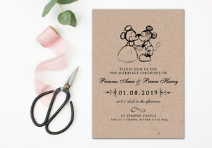 Disney Wedding Invitations | 60 Rustic Mickey And Minnie Mouse Disney Wedding Invitations Invites
