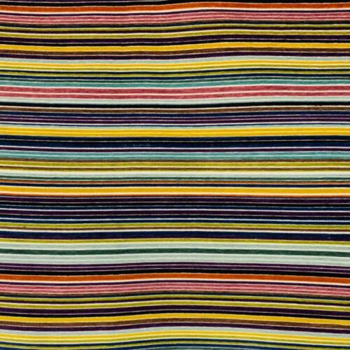 FT14 3 Colors Velvet Stripe Upholstery Fabric Purple Blue Orange
