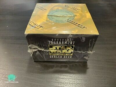 OFFICIAL TOURNAMENT SEALED DECK BOX STAR TREK CCG