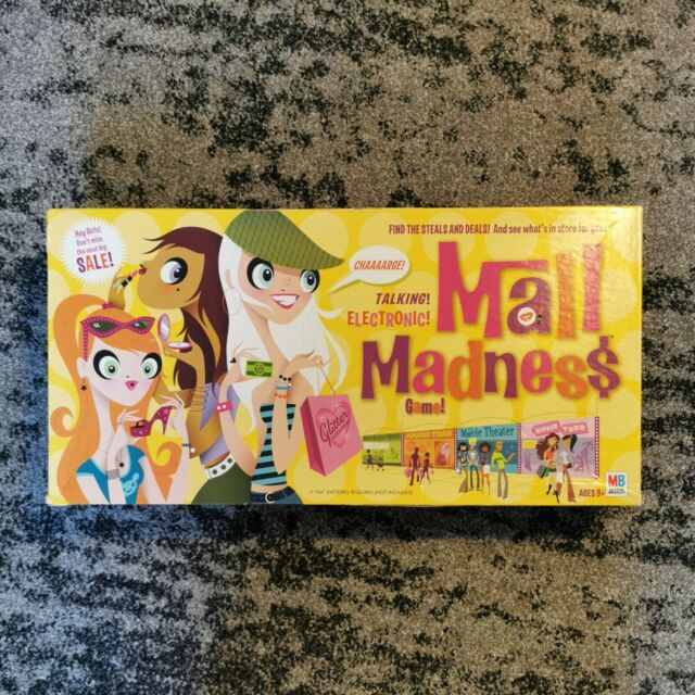 Electronic Mall Madness Board Game (2004) - 100% Complete, Very Good Condition