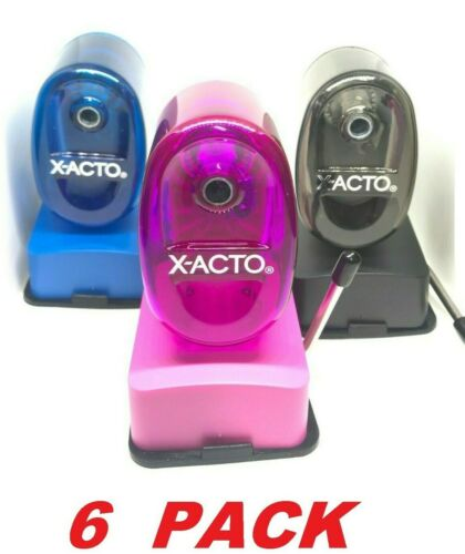 Office 6 Count X-Acto Bulldog Vacuum Pencil Sharpener Steel Cutter School