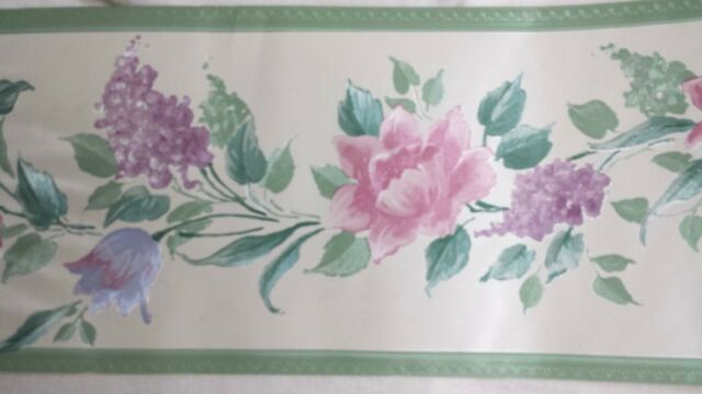 Vintage Textured Floral Euporean Shabby Chic Wallpaper Border 5 4