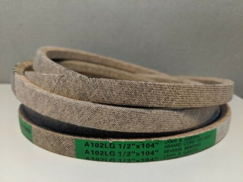 """1//2/""""x104/"""" INDUSTRIAL /& LAWN MOWER V-BELT MADE WITH KEVLAR A102LG"""
