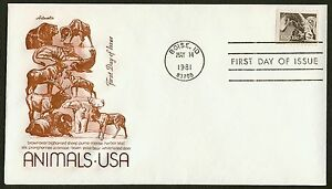 #1880 18c Bighorn Oveja, Artmaster FDC Cualquier 4=