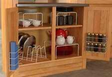 6 Piece kitchen Cabinet organizer Set Rack Drawer pantry Holder Dish Storage kit
