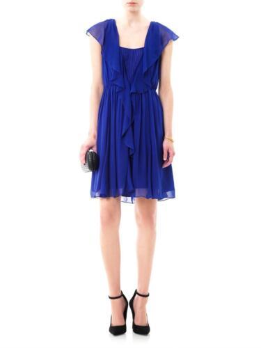 DVF Blue Winifred Silk Dress (SIZE 12)