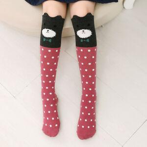 1 Pairs Long Socks Little Girls Kids Cartoon Knee High Warm Cotton ... e19d0393a
