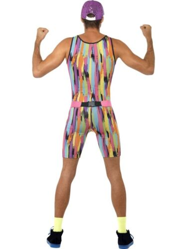 Mens 80s Mr Energizer Fancy Dress Costume Motivator 1980s Outfit New by Smiffys