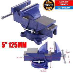 Tremendous Details About 5 125Mm Work Bench Vice Vise Workshop Clamp Engineer Jaw 3600 Swivel Base Blue Pabps2019 Chair Design Images Pabps2019Com