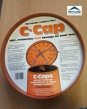 "C CAP Chimney Cowl | For Disused Chimneys Only | For Pots Up To 11""/300mm"