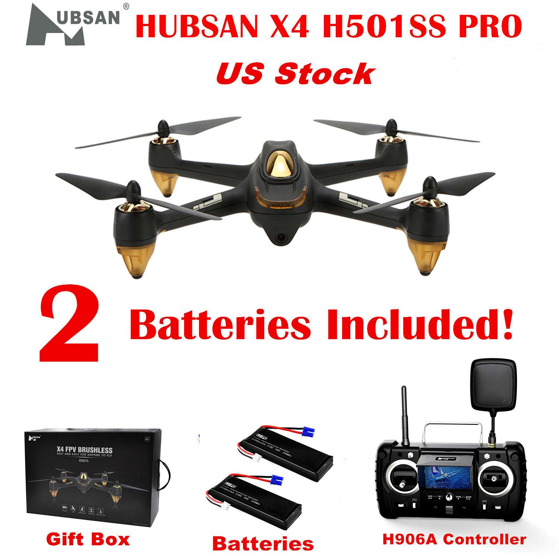 Hubsan H501S alto X4 FPV dron sin escobillas 5.8G 1080P RC Quadcopter RTF GPS Negro