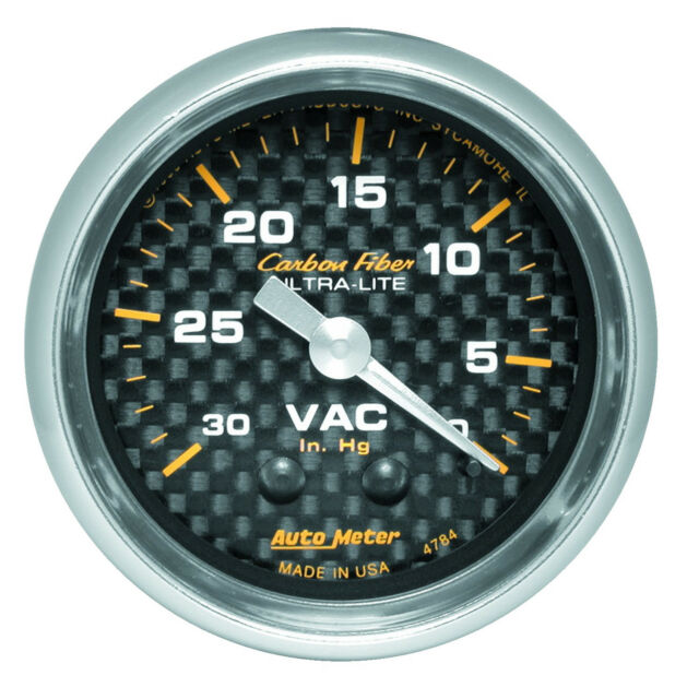 0-30in//Hg Holley 26-501 Vacuum Gauge Vacuum Gauge