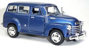 1950-Chevrolet-Suburban-Carryall-Sammlermodell-12-2-cm-blau-metallic-KINSMART