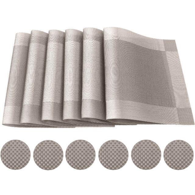4er Set Tischsets Platzsets Kunststoff weiß Deckchen Tischmatten Platzmatte Kela