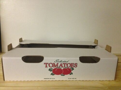 10 LB Tomato box Printed Red /& Green 50 pcs per Box Reg$119.95