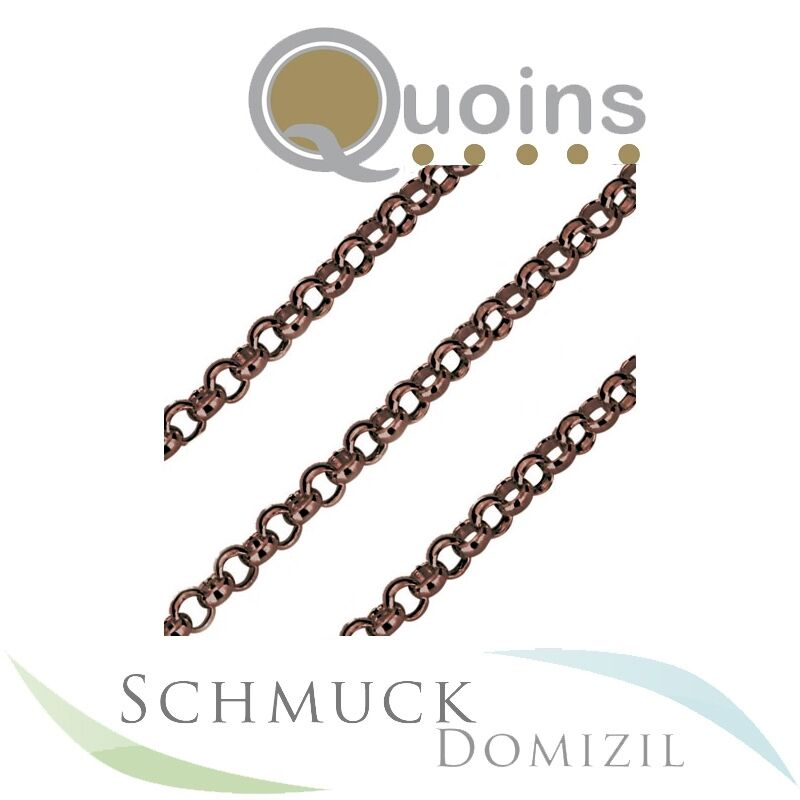 Quoins - Kette aus Edelstahl brown - 80 cm  - QK-ER