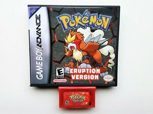 Pokemon Eruption Game / Case Nintendo Game Boy (GBA) -  Fan Made (USA Seller)