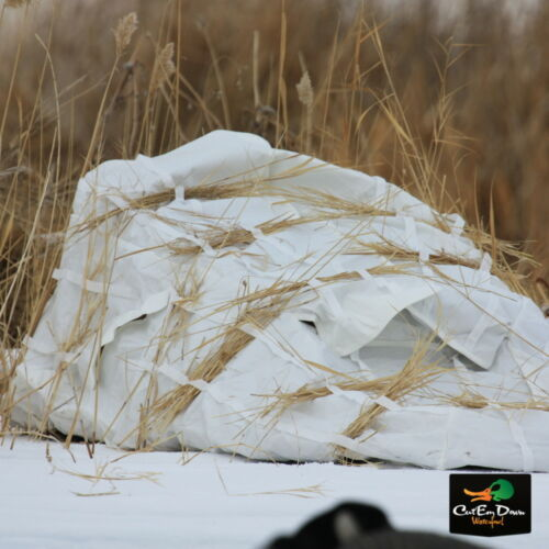 AVERY GREENHEAD GEAR GHG FINISHER LAYOUT GROUND HUNTING BLIND WHITE SNOW COVER