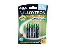 Lloytron B014 4 x NIMH AccuUltra High Capacity Rechargeable AAA Batteries 550mAh