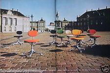 PUBLICITÉ 1970 KNOLL CHAISES DE SECRÉTARIAT DE JORGEN RASMUSSEN - ADVERTISING