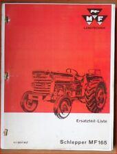 Massey Ferguson Schlepper MF 165 Ersatzteilliste
