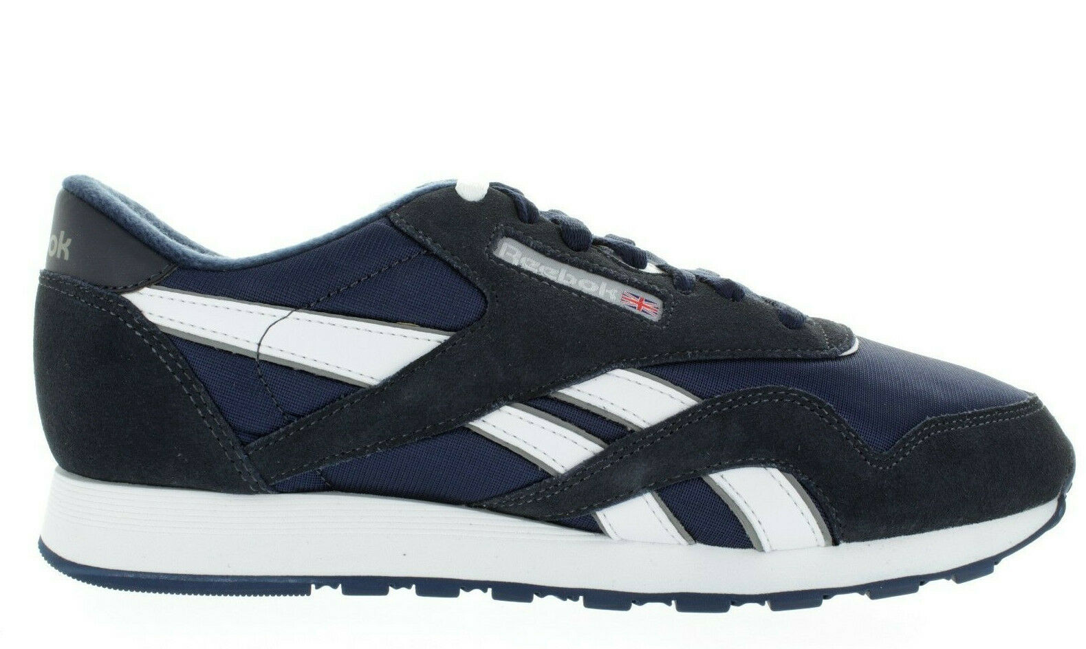 MEN'S REEBOK CL NYLON 39749 TEAM NAVY PLATINUM BRAND NEW DEADSTOCK