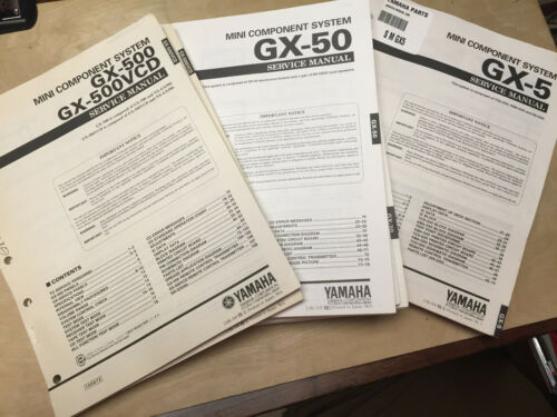 Original Yamaha Service Manual for GX Mini Component Stereo Systems ~ Select One
