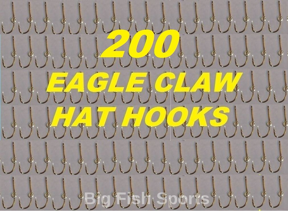 200 EAGLE CLAW HAT HOOKS Hat Pin/Tie Clasp GOLD PLATED FISH HOOK HAT PINS  155