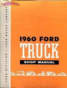 shop manual ford truck service repair 1960 book ebay rh ebay com 1966 ford truck service manual 1977 ford truck service manual