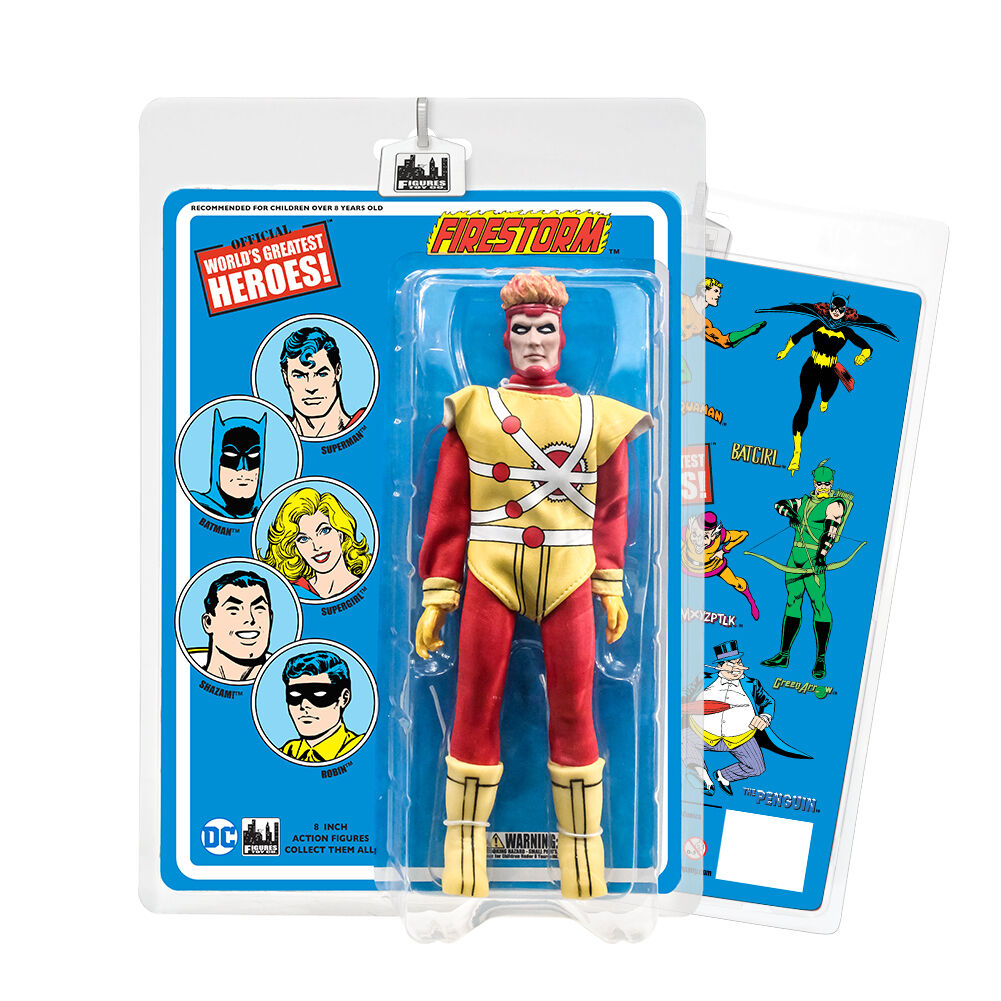 DC Comics 8 Inch Action Figures With Retro Cards  Firestorm