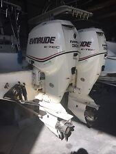 Twin Evinrude 300 e-tec boat motors