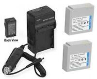 2 Batteries + Charger For Samsung Hmx-h100n Hmx-h100p Hmx-h100nm/xaa Hmx-h100nm