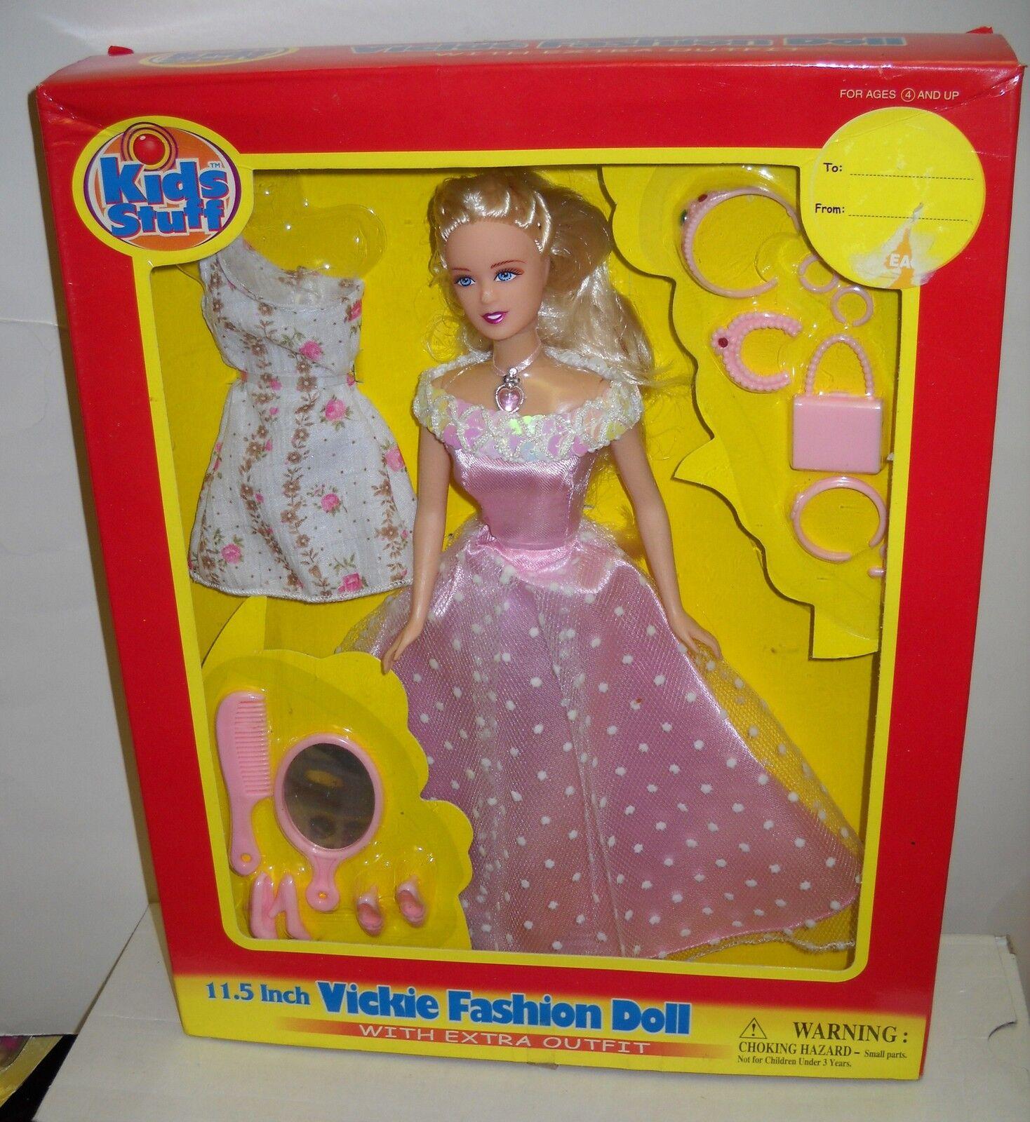 Nunca quitado de la Caja Kids Stuff 11.5  Vickie moda muñeca en rosadodo con extra de moda