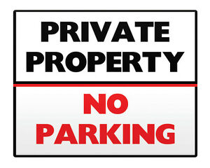 Duke Gifts NO PARKING Private Property Metal Sign 8x10 Access Business Premises Safety 34