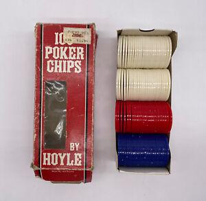 Hoyle-Vintage-Plastic-Poker-Chips-100-Count-3-Colors-1992