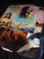 Disney Beauty And The Beast Enchanted Belle Emma Watson Plush Throw Blanket