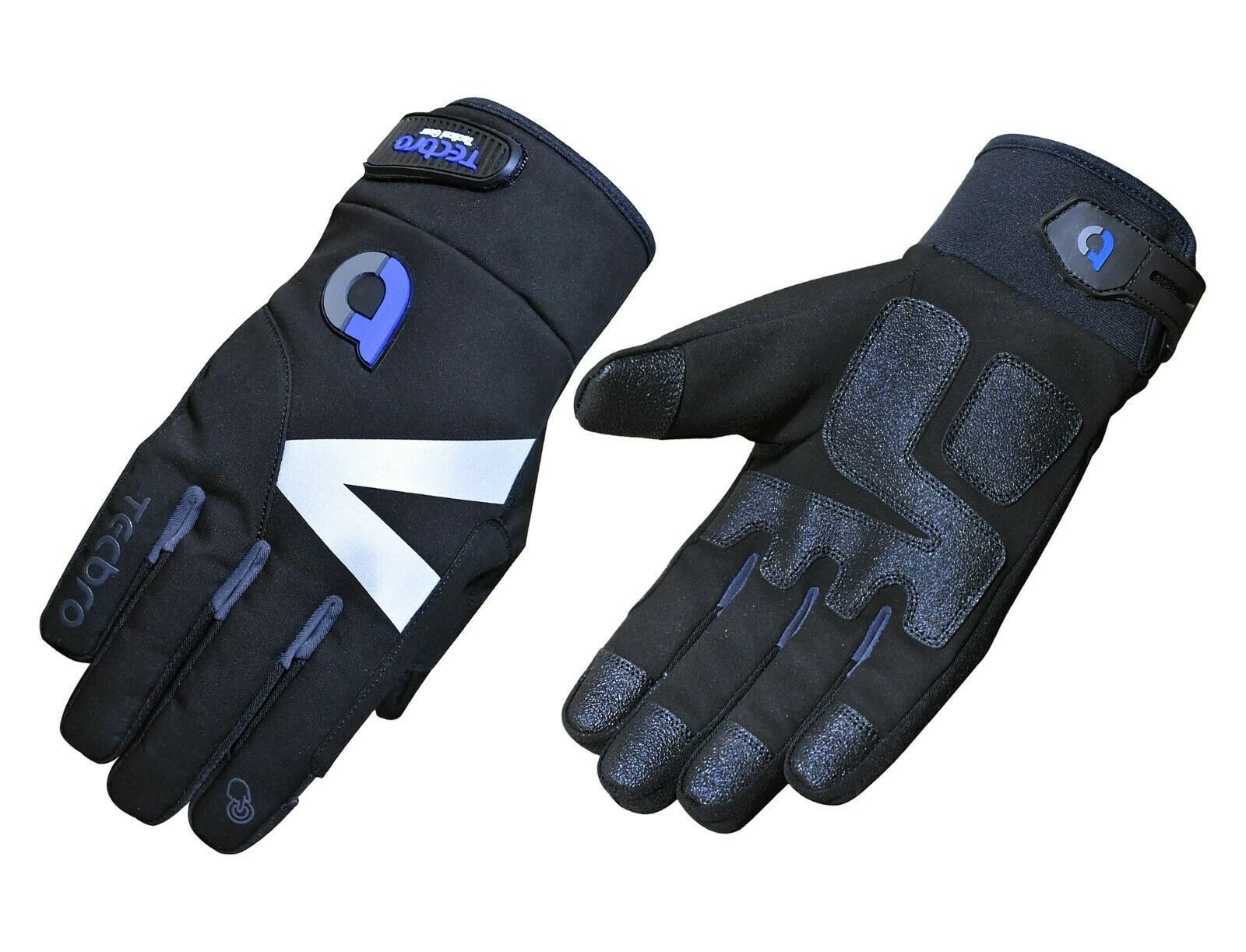 Tecbro Soft Shell Insulated Gloves with Reflective Panels & Vinyl Abrasion Pads
