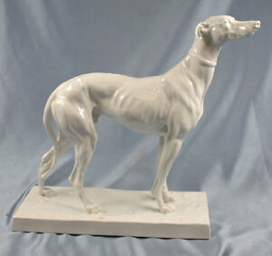 Details about Rare Large greyhound figurine sighthound Herend porcelain dog  perfect figure