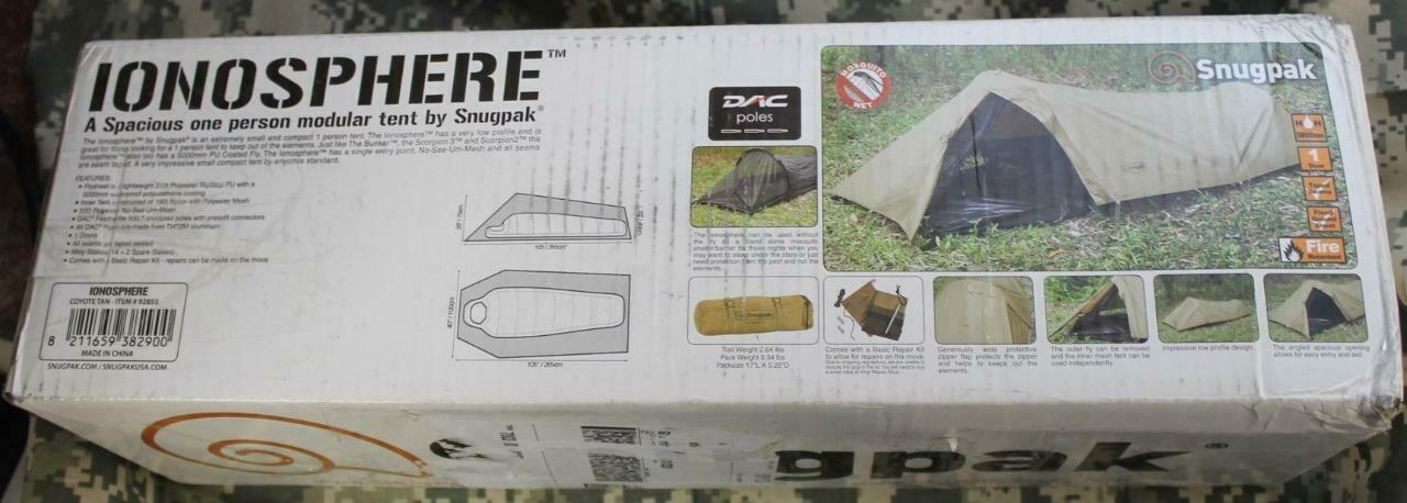 Snugpak Ionosphere Compact Low Profile Modular One Person Backpacking Tent 92855