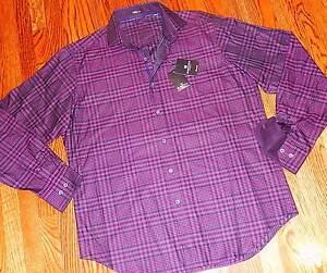 nueva Bugatchi Mens medio Authentic camisa M vestir Sz ajuste hombre Nwt clásico de de xRUwqRn