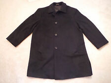 MENS  44 S SHORT VALENTE BLACK LAMBS WOOL CASHMERE BLEND WINTER TRENCH COAT