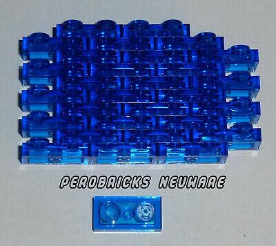 Lego Technic Technik Basic 30 Platten 1x2 #3023 transparent rot NEUWARE