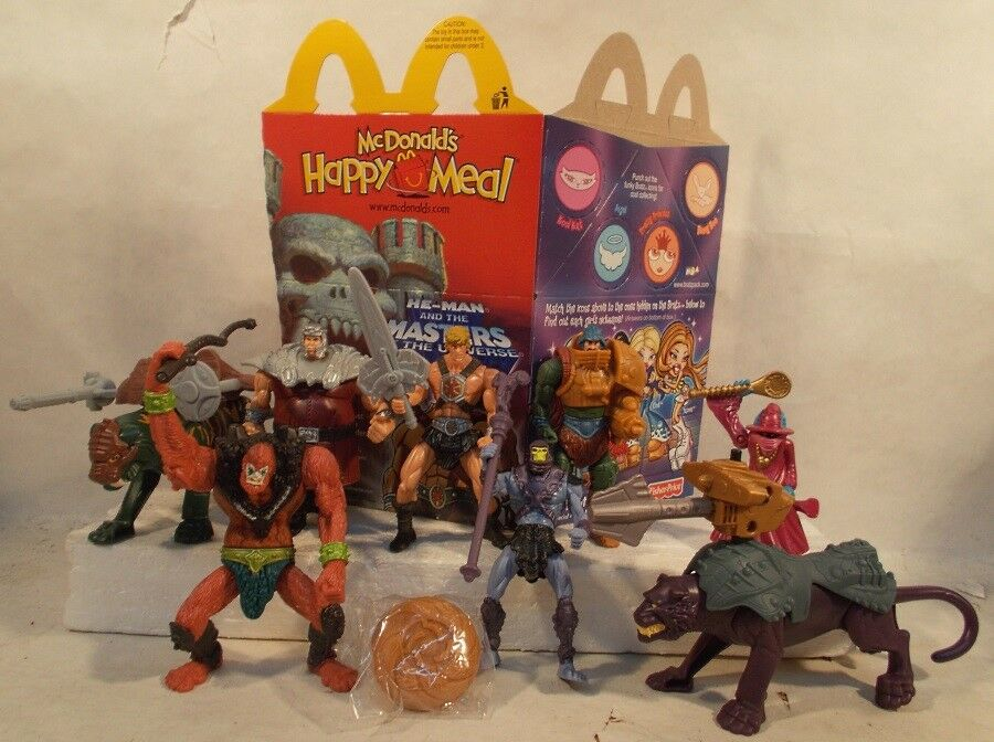 Masters Of The Universe He-Man Orko Beastman battlecat Panthor McDonalds SEALED