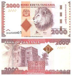 Tanzania-2000-Shillings-ND-2015-P-42b-Banknotes-UNC