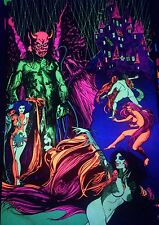 The Exorcist Castle Vintage Blacklight Poster