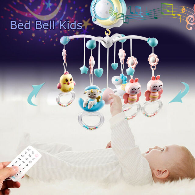 Baby Bed Bell Kids Crib Musical Mobile Cot Music Box Gift Baby Rattles Toy AU